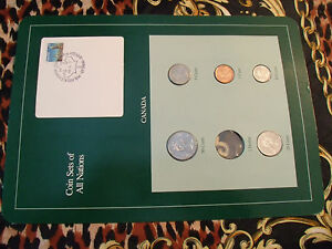COIN SETS OF ALL NATIONS CANADA ALL 1987 BUT 50 CENTS 1986 UNC MISSING 1 DOLLAR
