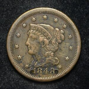 1848 LARGE CENT CORRODED AND DAMAGED  BB2645