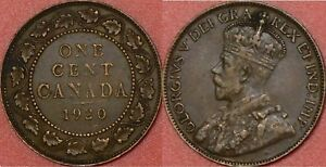 VERY FINE 1920 CANADA LARGE 1 CENT