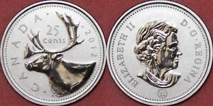 SPECIMEN 2012 CANADA 25 CENTS FROM MINT'S SET