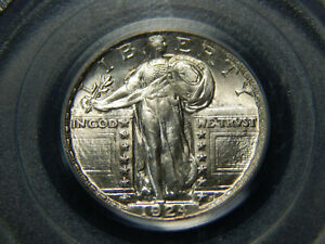 1924 25C STANDING LIBERTY QUARTER MS 64 PCGS OGH GREAT LUSTER  LOOKS HIGHER