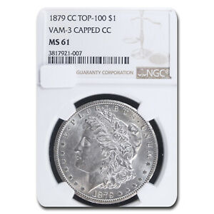 Click now to see the BUY IT NOW Price! 1879 CC MORGAN DOLLAR MS 61 NGC  CAPPED CC VAM 3 TOP 100    SKU194907