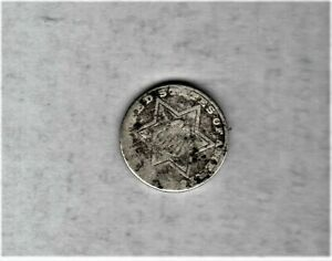TYPE 2 3 CENT SILVER 1854 1858