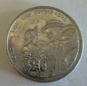 2005   COMING HOME WORLD WAR TWO   AUSTRALIAN TWENTY / 20 CENT COIN   CIRCULATED