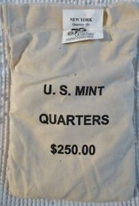 Click now to see the BUY IT NOW Price! NEW YORK 2001 D $250 FACE VALUE MINT SEWN 50 STATE QUARTERS BAG