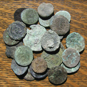 Click now to see the BUY IT NOW Price! 24 LOWER GRADE AND UNCLEANED THIRD AND FOURTH CENTURY ROMAN COINS