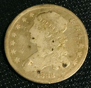 1838 CAPPED BUST QUARTER GREAT COIN    FULL LIBERTY  AFFORDABLE  LOT CC225