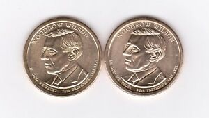 PRESIDENTIAL $ COINS 2013 PART SET 7 MINT P D / WOODROW WILSON  SEE DESCRIP