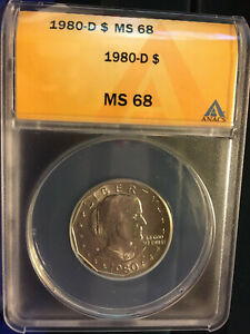Click now to see the BUY IT NOW Price! 1980 D SBA DOLLAR ANACS MS68 HIGHEST REGISTRY