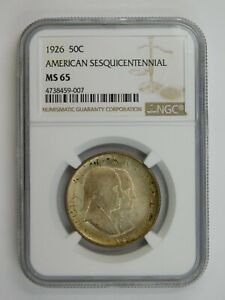 Click now to see the BUY IT NOW Price! 1926 SESQUICENTENNIAL COMMEMORATIVE HALF DOLLAR NGC GRADED MS 65  137