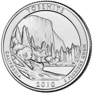 QUARTER COIN USA 25 CENTS YOSEMITE NATIONAL PARK D 2010