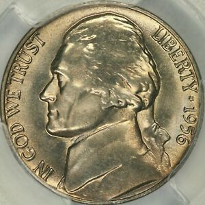 Click now to see the BUY IT NOW Price! 1956 JEFFERSON NICKEL PCGS MS67FS   TOP POP