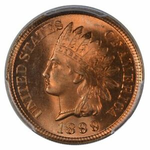 Click now to see the BUY IT NOW Price! 1899 INDIAN CENT PCGS MS67RD