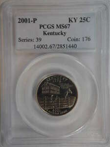 2001 P KENTUCKY QUARTER CLAD MS67 PCGS   SKU 759G