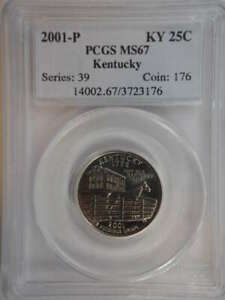2001 P KENTUCKY QUARTER CLAD MS67 PCGS   SKU 760G