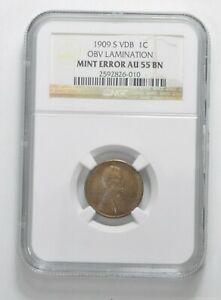 Click now to see the BUY IT NOW Price! AU55 BN 1909 S VDB LINCOLN WHEAT CENT   MINT ERROR   GRADED NGC  5029
