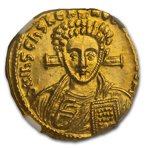 Click now to see the BUY IT NOW Price! BYZANTINE AV SOLIDUS JUSTINIAN II  705 711 AD  MS NGC  2ND REIGN    SKU190909