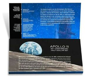 2019 S APOLLO 11 50TH ANNIVERSARY REVERSE KENNEDY PROOF SET ERROR PACKAGING 19CF