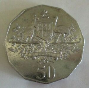 2001 CENTENARY OF FEDERATION COAT OF ARMS   AUSTRALIAN FIFTY/50 CENT COIN  CIRC.