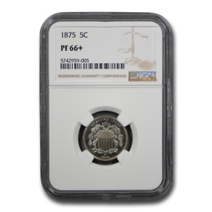 1875 SHIELD NICKEL PF 66  NGC   SKU199561