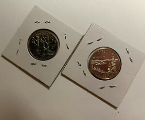 LOT OF 2 PROOF STATE QUARTER DOLLARS  01 S 05 S  VERMONT & OREGON
