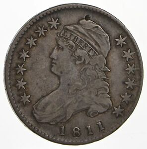 1811 CAPPED BUST HALF DOLLAR   CIRCULATED  0764