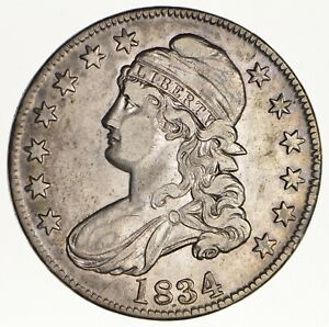 1834 CAPPED BUST HALF DOLLAR   CIRCULATED  1608