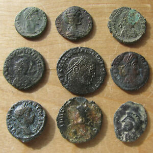 Click now to see the BUY IT NOW Price! NINE ANCIENT ROMAN BRONZE COINS   NICE ELAGABALUS PROVINCIAL