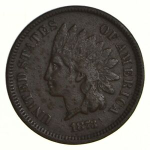 1873 INDIAN HEAD CENT   CIRCULATED  2721