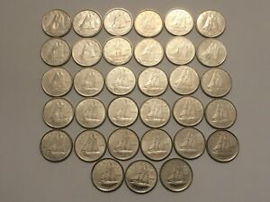CANADA  LOT OF 33  10 CENTS 1968 2000 100  NICKEL   MELTED BY MINT  OILERSFAN99