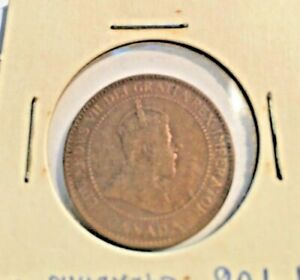 VINTAGE 1906 CANADA LARGE ONE CENT CANADIAN CIRCULATED PENNY COIN MONEY $$