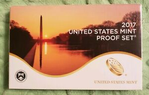 2017 UNITED STATES MINT PROOF SET 10 COINS COMPLETE W/ BOX & COA 509