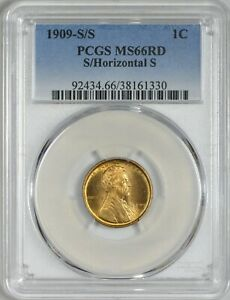 Click now to see the BUY IT NOW Price! 1909 S/S HORIZONTAL S LINCOLN CENT PCGS MS66 RED    VARIETY REGISTRY QUALITY