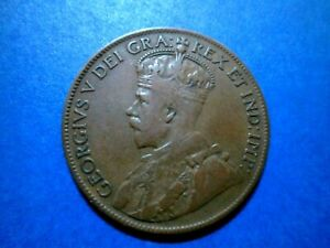 CANADA LARGE ONE CENT 1919 GEORGE V LIGHTLY CIRCULATED