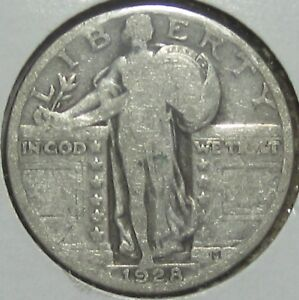 1928 STANDING LIBERTY SILVER QUARTER FINE     FREE SHIPPPING