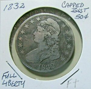 NICER 1832 CAPPED BUST 1/2 DOLLAR HIGHER MID DETAILS OLD SILVER