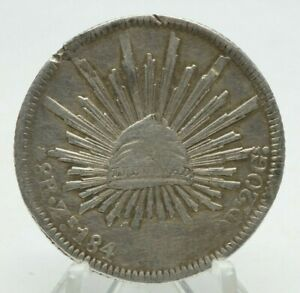 1840 ZS OM MEXICO 8 REALES NICE 90  SILVER COIN YOU GRADE