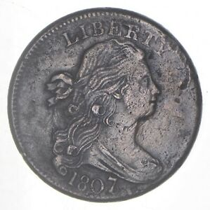 1807/6 DRAPED BUST LARGE CENT  6260