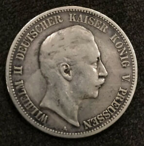 1893 A GERMAN EMPIRE DEUTCHES REICH GERMANY SILVER COIN 5  FUNF  MARK
