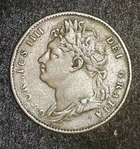 DATED : 1822   ONE FARTHING   COIN   KING GEORGE IIII   GREAT BRITAIN