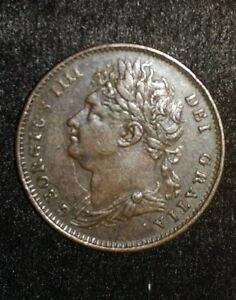 DATED : 1822   ONE FARTHING   COIN   KING GEORGE IIII   GREAT BRITAIN    SUPERB