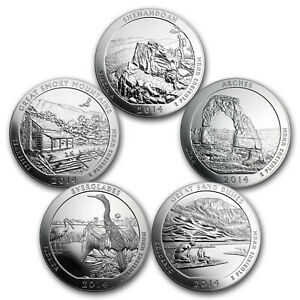Click now to see the BUY IT NOW Price! 2014 5 COIN 5 OZ SILVER AMERICA THE BEAUTIFUL SET   SKU 98455