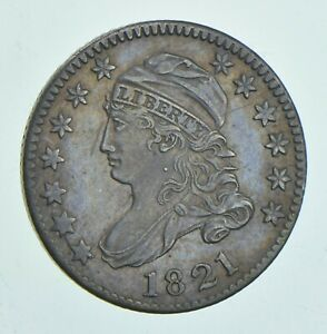 1821 CAPPED BUST DIME   LARGE DATE  6016