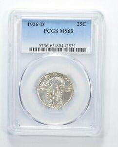 MS63 1926 D STANDING LIBERTY QUARTER   GRADED PCGS  6359