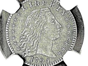 1794 H10C NGC AU50   ONLY ONE ON EBAY THIS NICE IN YEARS 9 KNOWN