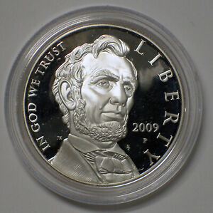 2009 P PROOF $1 ABRAHAM LINCOLN COMMEMORTIVE SILVER DOLLAR COIN