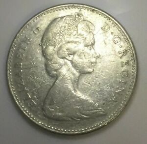 Click now to see the BUY IT NOW Price! 1965 CANADA NICKEL   5 CENTS COIN ERROR SMALL II