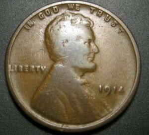 1914 LINCOLN WHEAT PENNY  B