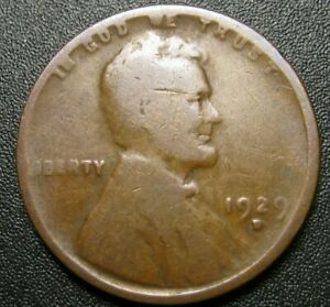 1929 D LINCOLN WHEAT PENNY    A
