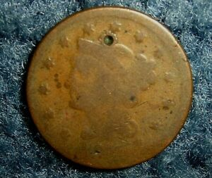 MINT ERROR 1846 U.S. LARGE CENT COIN DYE FULLY ROTATED 180